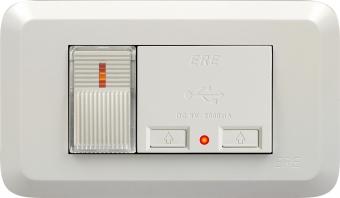 RE-4201 雙USB充電座 單開關