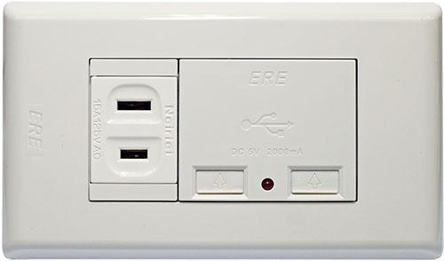 雙USB充電座 單插座