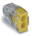 導線連接器 黃色2線式