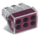導線連接器 紫色6線式