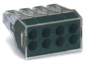 導線連接器 黑色8線式