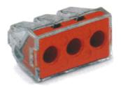 導線連接器 紅色3線式